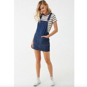 Denim Y-Back Overall Dress